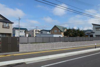 フェンス設置工事 湯沢市M様邸